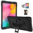 Contrast Color Silicone + PC Combination Case m. Holder f. Galaxy Tab 10.1 (2019) Black1