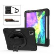 360 Degree Rotation Silicone Protective Cover m. Holder & Hand Strap & Long Strap & Pencil Slot f. iPad Pro 12.9 (2020/2018) Black1