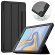 Acrylic + TPU Horizontal Flip Smart Leather Case w. Three-folding Holder/Pen Slot/Wake-up/Sleep Function f. Galaxy Tab 10.1 (2019) Black1