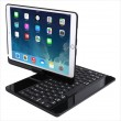360-degree Rotating Seven-color Backlit Bluetooth Keyboard Leather Case f. iPad 10.2 +iPad Pro 10.5 (Black)1